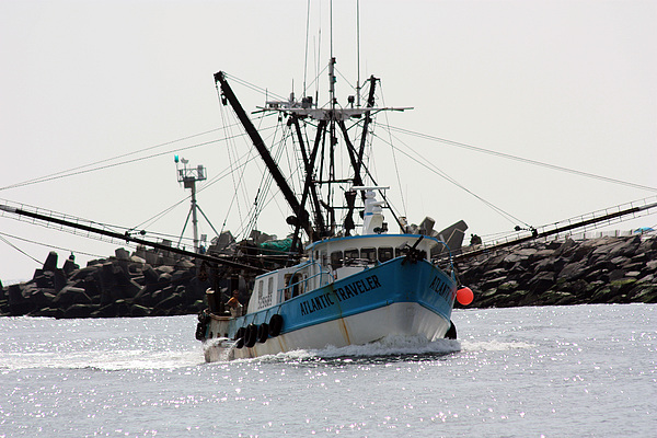 Fishing Trawler Photograph - Coming Home by Mary Haber