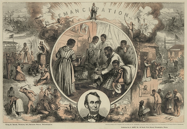 History Photograph - Commemoration Of The Emancipation by Everett