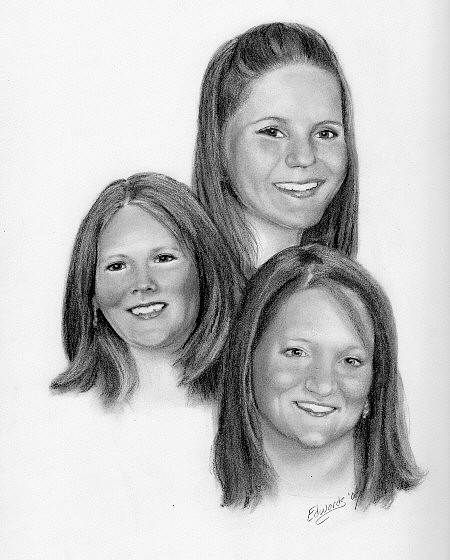 Children Drawing - Commission6 by Wanda Edwards