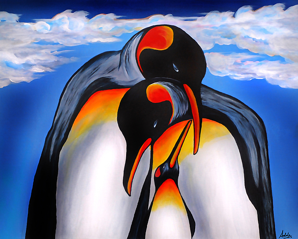 King Penguin Painting - Commitment by Adele Moscaritolo