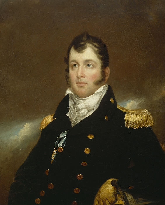 Commodore Painting - Commodore Oliver Hazard Perry by John Wesley Jarvis