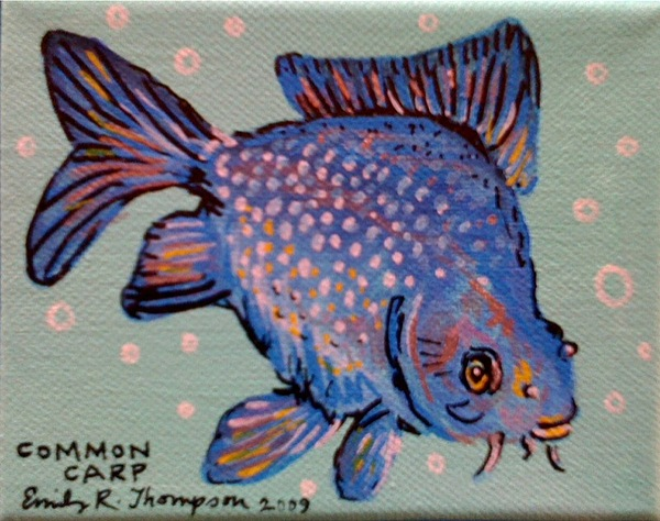 Common Carp Painting by Emily Reynolds Thompson