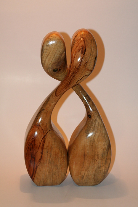 Wood Sculpture - Communication by Shawn Roberts