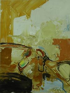 Abstract Painting - Commute IIi   12 X 16 by David  McKee