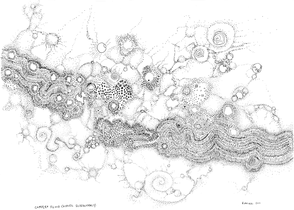 Complex Drawing - Complex Fluid A Novel Surfactancy by Regina Valluzzi