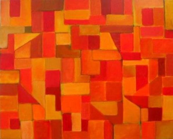 Composicao Geometrica X Painting by Nicolau Campos