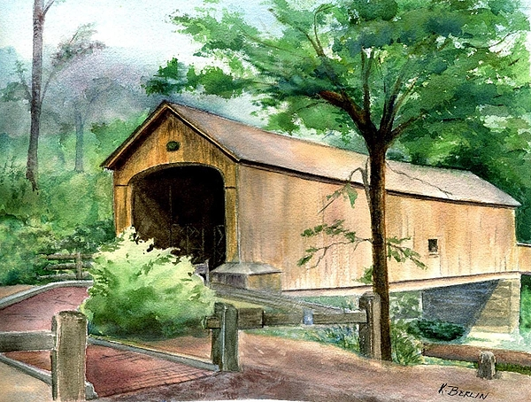 Comstock Painting - Comstock Bridge by Katherine  Berlin
