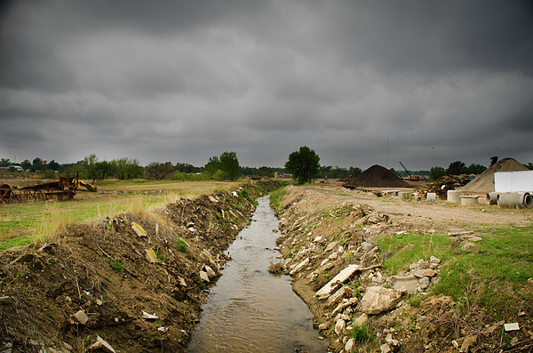 Storm Clouds Photograph - Concrete River 2 by Matthew Angelo