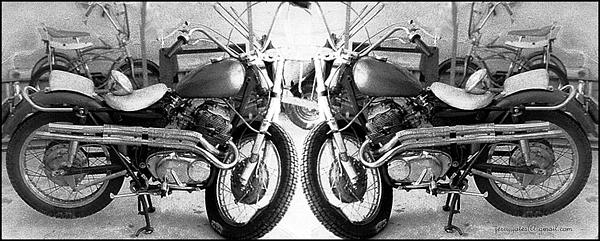 Motor Cycle Photograph - Confrontation With Death by Gerard Yates