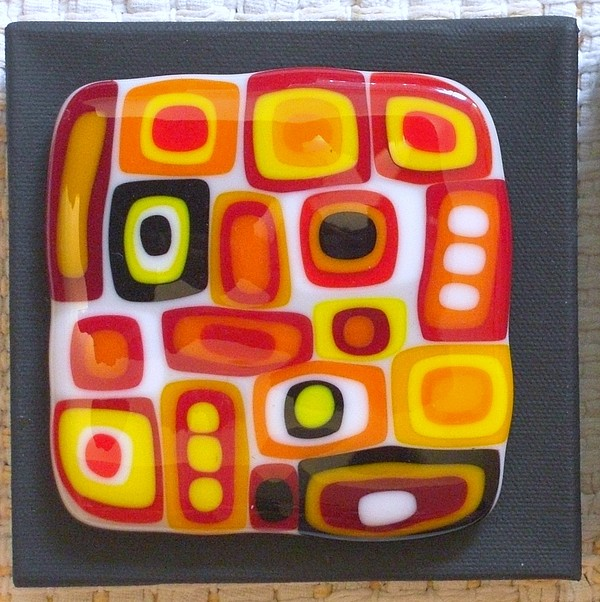 Fused Glass Glass Art - Confusion Two by Judy Jones