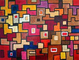 Geometric Painting - Conglomerate Of Isolates II by Lili Vanderlaan