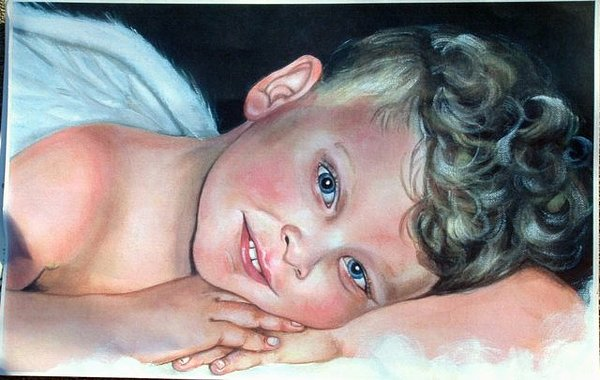 Angel Painting - Conner by Gwendolyn Frazier
