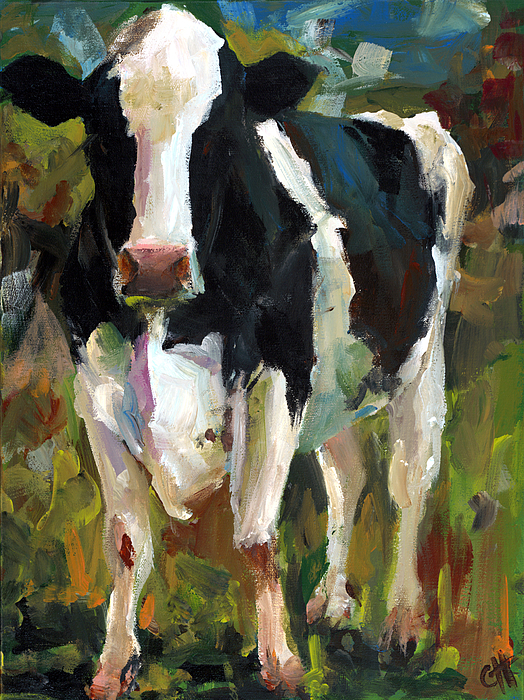 Cow Painting - Connie The Cow by Cari Humphry