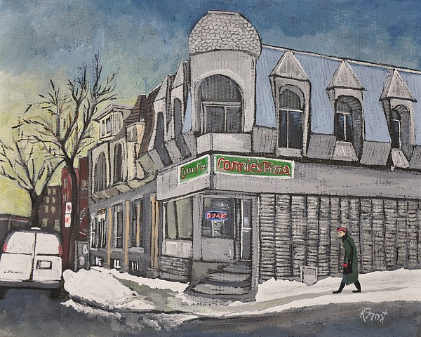 Connie's Pizza Painting - Connies Pizza Psc by Reb Frost