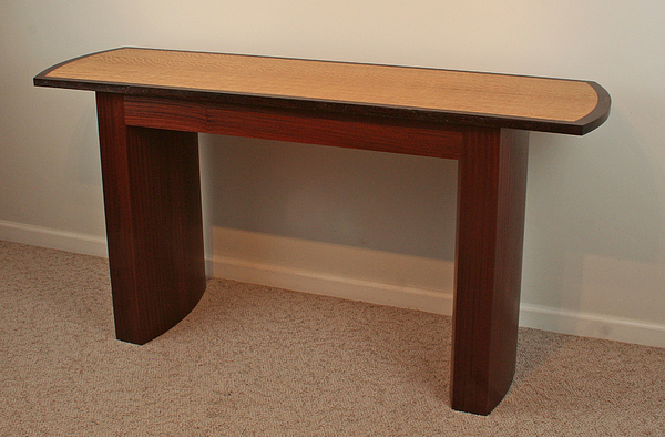 Wenge Sculpture - Console Table With Curved Legs by Alan Carter