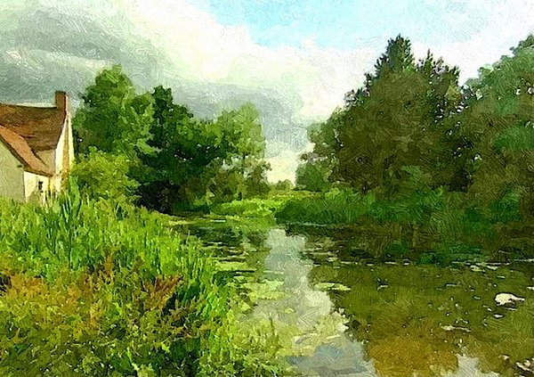 John Constable Painting - Constable Country by Wu Wei