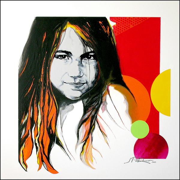 Portrait Painting - Constanza by Jean Pierre Rousselet