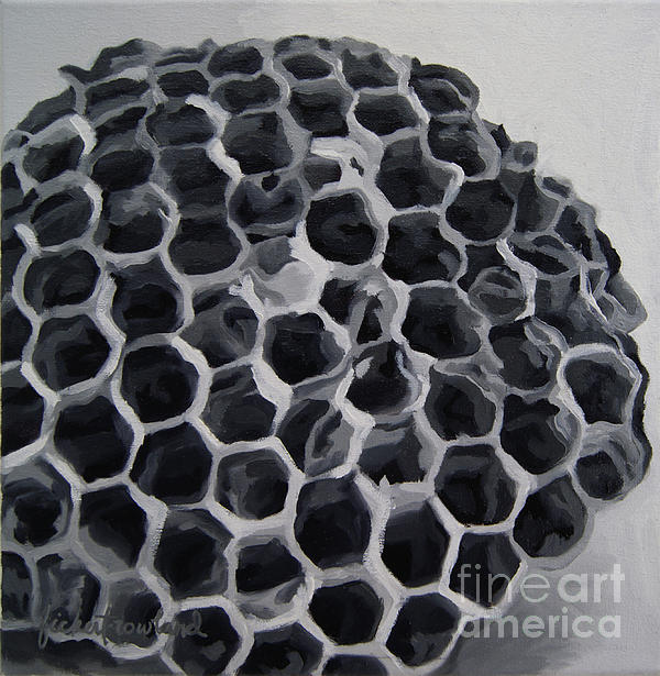 Wasp Nest Painting - Constructed by Erin Fickert-Rowland