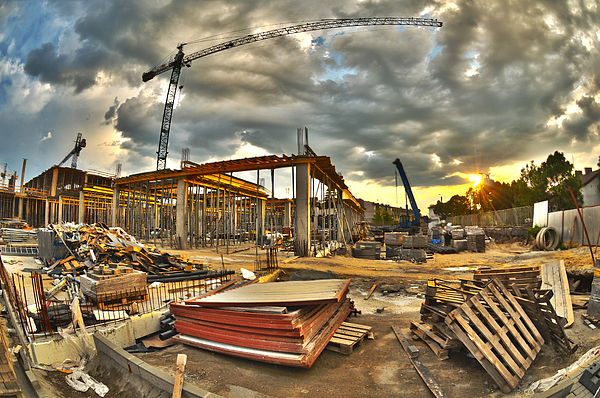 Apartment Photograph - Construction Site by Jaroslaw Grudzinski