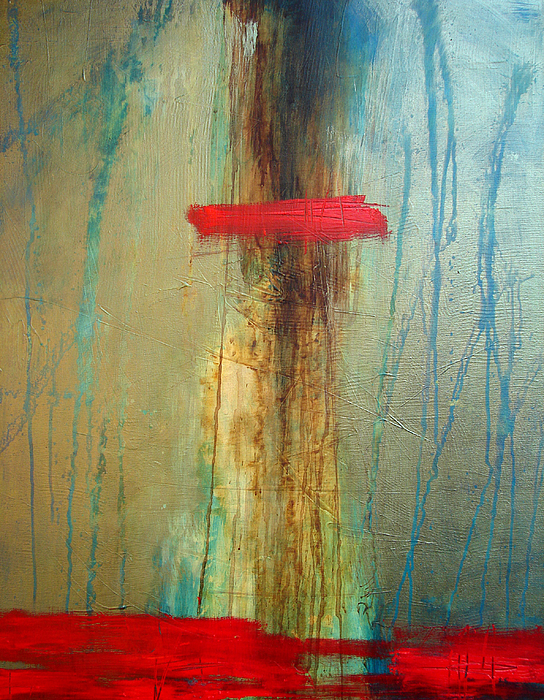 Abstract Painting - Contemplation by Filomena Booth