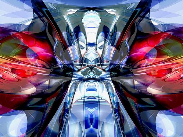 3d Digital Art - Convergence Abstract by Alexander Butler
