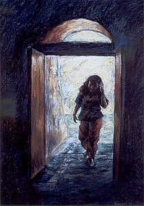 Figurative Painting - Cool Interior by Tina Siddiqui