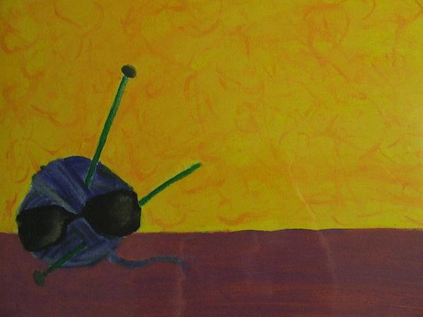 Yarn Painting - Cool Yarn by Samantha  Gilbert