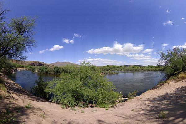 Desert Photograph - Coons Bluff Salt River Arizona by Brian Lockett