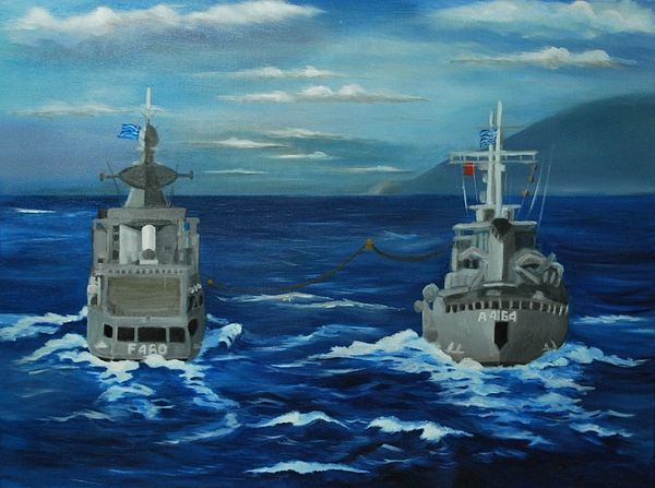 Navy Painting - Cooperation by Kostas Koutsoukanidis