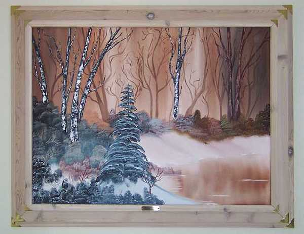 Copper Pond Painting by Sheldon Kiroff