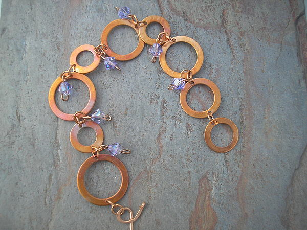 Copper Jewelry - Copper Rings by Angie DElia