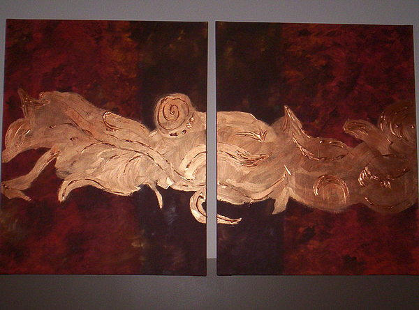 Abstract Painting - Copper Ways by Becca Haney