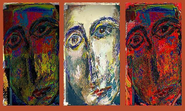 Portraits Mixed Media - Coptic Faces by Noredin Morgan