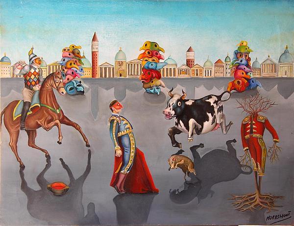 Surreal Painting - Corrida De Carnaval by Francesc Moresmont
