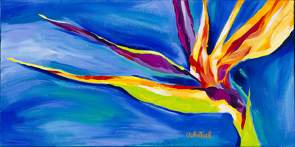 Bird Of Paradise Painting - Coruscation by Lynette K Waters-Whitesell