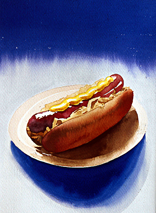 Still Life Painting - Cosmic Weenie by Eunice Olson