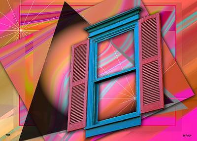 Cosmic Window Digital Art by Art by Brenda Starr Photography by Rob Bishop