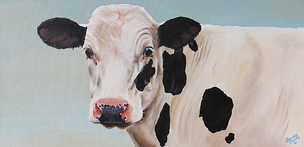 Cow Painting - Cosmoo Cow by Laura Carey