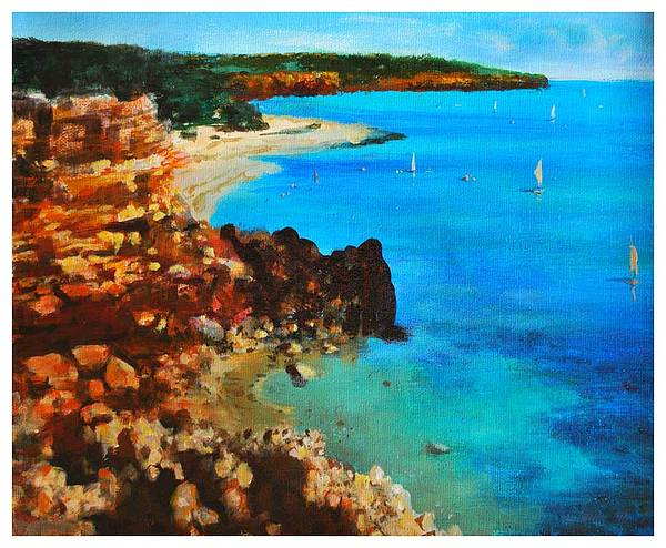 Landscape Painting - Costa Brava by Manuel Garcia