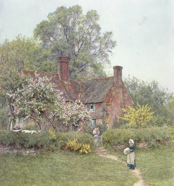 Cottage Painting - Cottage At Chiddingfold by Helen Allingham