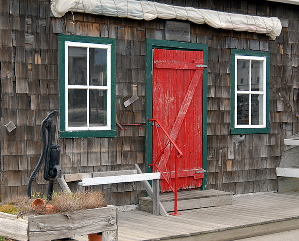 Colorful Red Cottage Door Photograph - Cottage Door by Joyce StJames