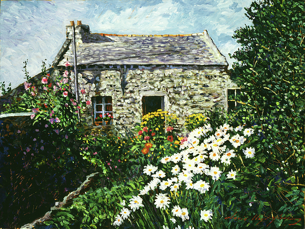 Landscape Painting - Cottage Of Stone by David Lloyd Glover