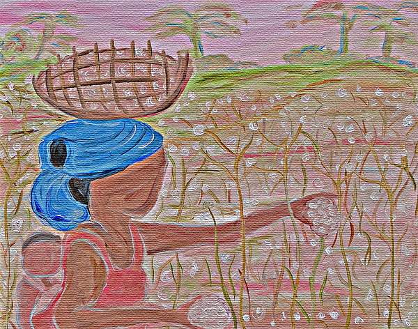 Cotton Painting - Cotton Balls by Carmen  Jackson