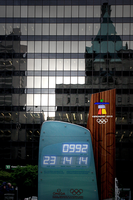 Olympics Photograph - Countdown Clock Olympic Winter Games Vancouver Bc Canada 2010 by Christine Till