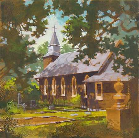 Saanich Painting - Country Church - I   by Ken Campbell