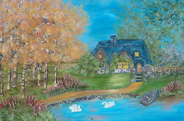 Cottage Painting - Country Cottage by Mikki Alhart