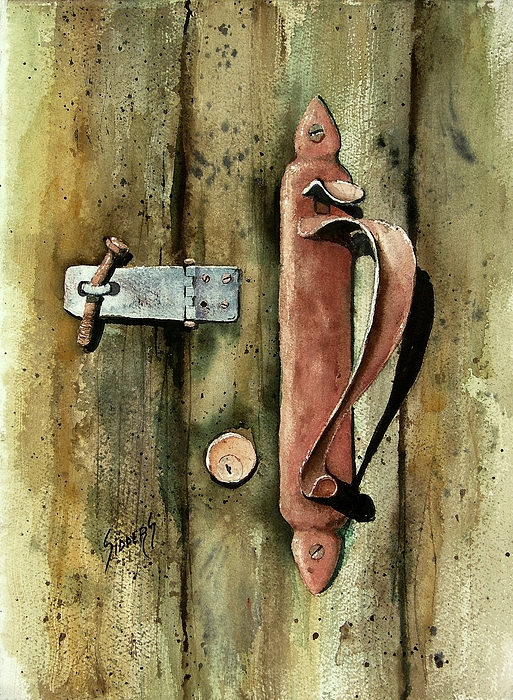 Country Door Lock Painting By Sam Sidders