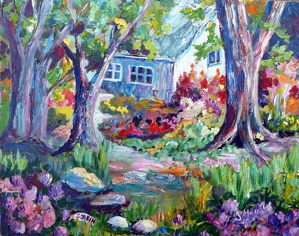 Country Garden Painting - Country Garden by Saga Sabin