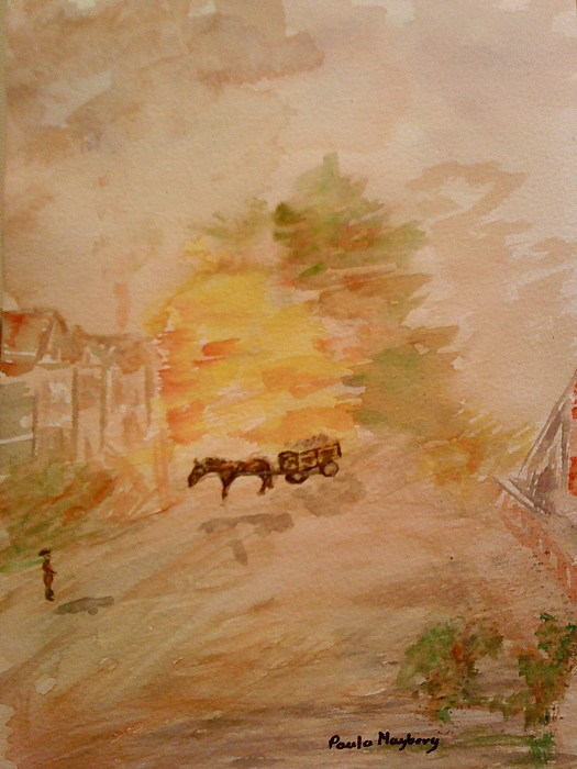 Country Life Painting - Country Life by Paula Maybery