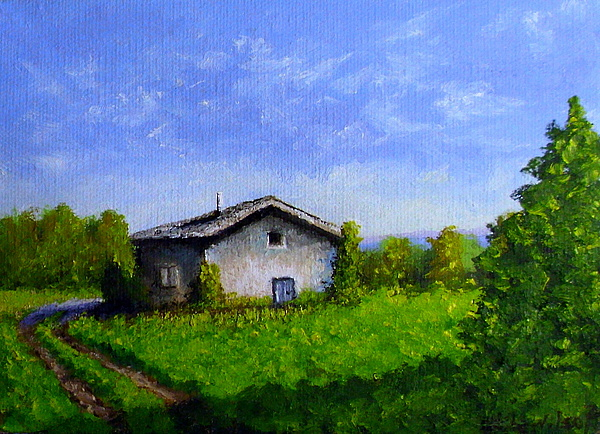 Landscape Painting - Country Living by Fred Wilson